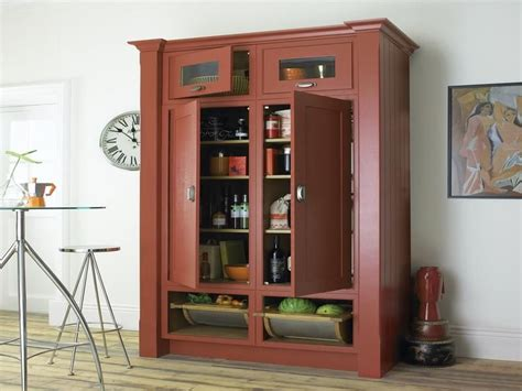 Kitchen Storage Cabinets Free Standing by Free Standing Pantry In Black Home Design Kitchen