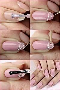 Easy Bridal Wedding Nail Art Tutorials For Girls 2014 ...