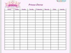 Printable Chore Lists LoveToKnow