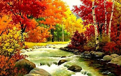 Fall Autumn Wallpapers Harvest Cool 2621 River