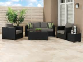 black patio furniture home outdoor