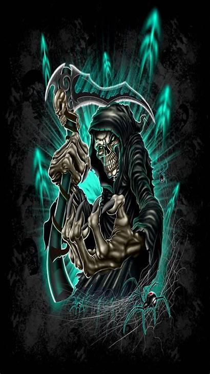 Reaper Skull Grim Skulls Tattoo Iphone Zedge