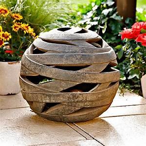 Terracotta Töpfe Groß : windlicht terracotta kugel saturn gro von g rtner p tschke ~ Eleganceandgraceweddings.com Haus und Dekorationen
