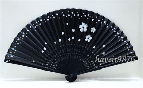 japanese silk hand fans silk japanese hand fan folding fan sakura by haveitfancyworld