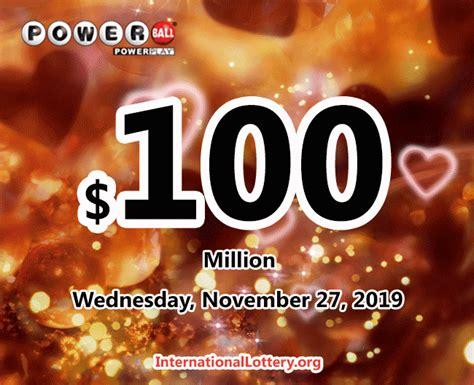 powerball million jackpot raises results november wednesday