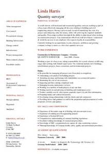 resume templates word docs affordable price assistant quantity surveyor cv exle