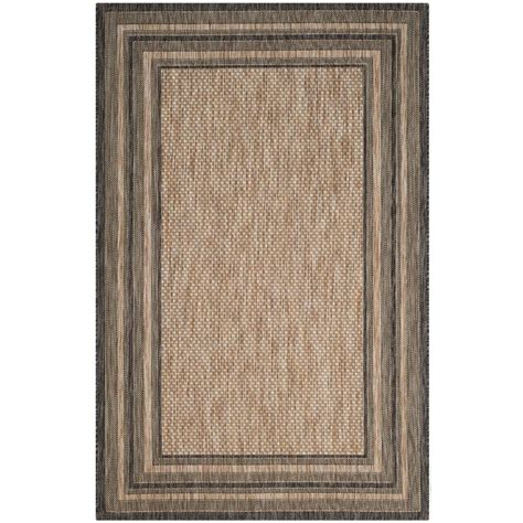 rugs home depot safavieh courtyard black 4 ft x 5 ft 7 in