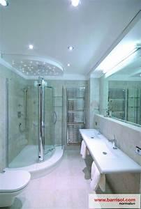 photos plafond tendu particulier salle de bain With refaire un plafond de salle de bain
