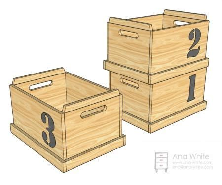 diy furniture plan  ana whitecom toy boxes  stack  store
