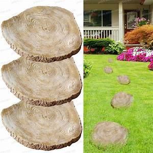Rondin De Bois Pour Jardin : pas japonais tronc d 39 arbre ecorce lot de 3 all e ~ Edinachiropracticcenter.com Idées de Décoration