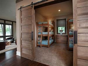 splashy triple bunk beds decoration ideas for kids With barn door bunk bed prices