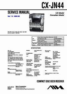 Sony Jax-s44 Service Manual