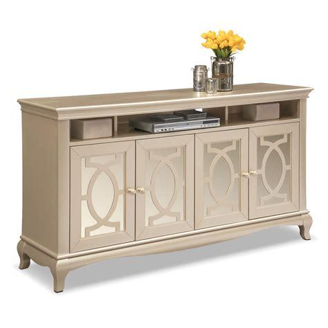 china cabinet white allegro tv credenza platinum signature furniture