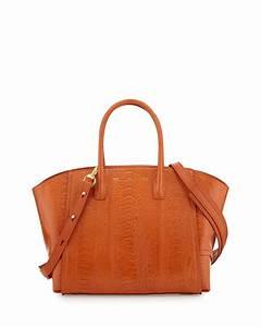 Vbh Brera 30 Sport Ostrich Satchel Bag  Orange