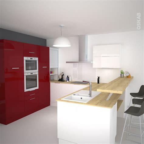 cuisine bois nature et d馗ouverte cuisine moderne façade stecia brillant porte de cuisine plan de travail bois et cuisine