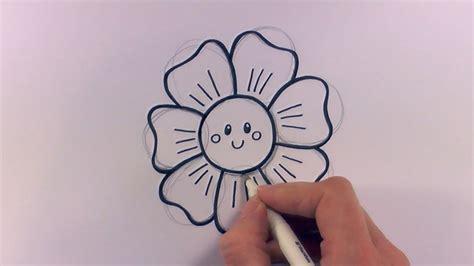 draw  cartoon flower head youtube