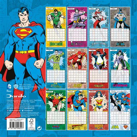 dc comics calendarios