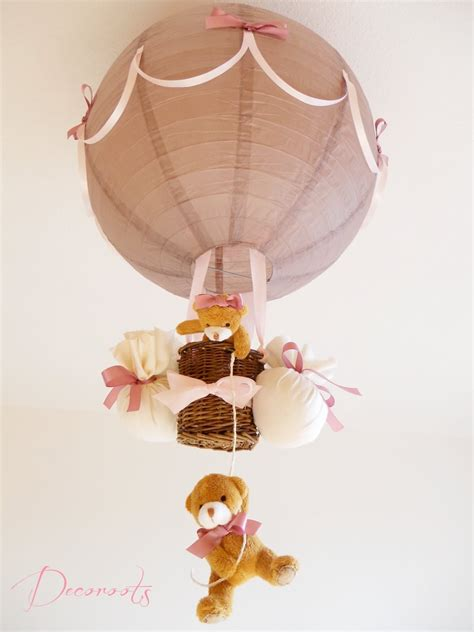 abat jour chambre bébé le montgolfière fille taupe et enfant bébé
