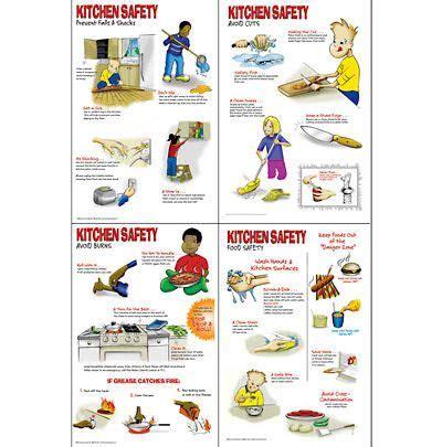 Kitchen Safety Poster Set | Kitchen safety, Food safety ...