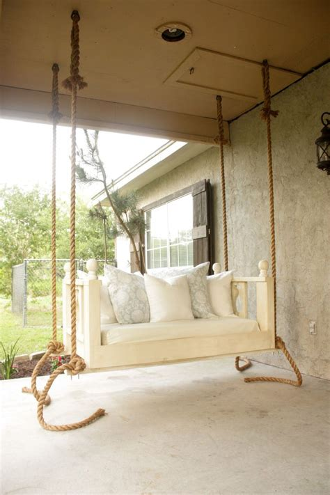 diy porch bed swing  plans   time  summer