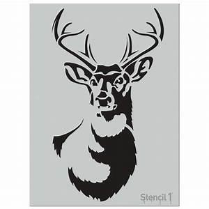 Stencil1 Large Antlered Deer Stencil