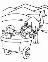 Wagon Coloring Covered Pages Pioneer Drawing Chuck Train Riding Template Hay Getcolorings Print Getdrawings Printable Sketch sketch template