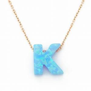 opal k initial necklaces lucky eyes london fenwick of With opal letter necklace