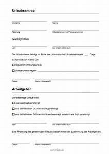 Einverständniserklärung Urlaub Vordruck : urlaubsantrag vorlagen und muster zum ausdrucken ~ Themetempest.com Abrechnung