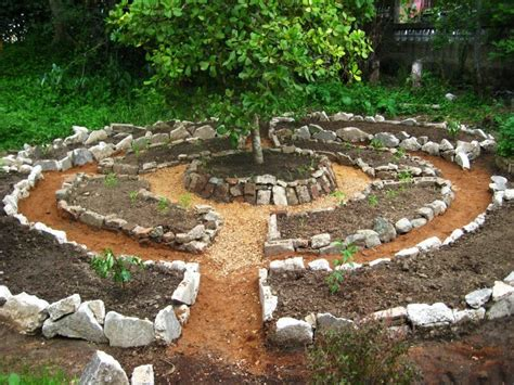 mandala garden design based on permaculture principles using curves instead of straight lines some argue that this is