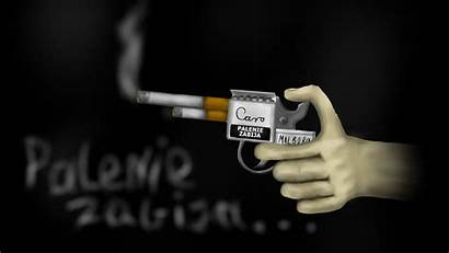 Smoking Funny Wallpapers Gun Guns Smoke Kills