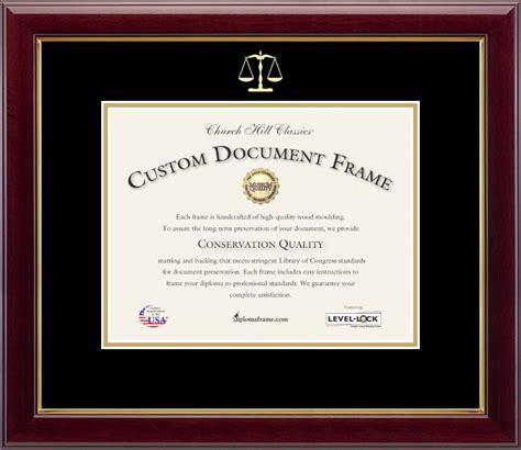 Law School Diploma Frame