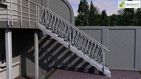 escalier ext 233 rieur en kit innotec avec re sur deux c 244 t 233 s www upstairs24 fr
