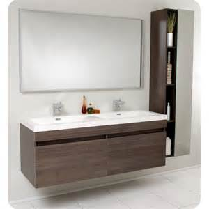 fresca senza 57 quot double largo modern bathroom vanity set
