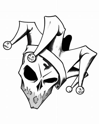 Jester Skull Drawing Joker Tattoo Drawings Graffiti
