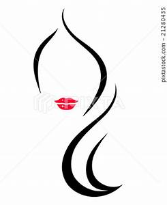 woman face silhouette - Stock Illustration [21280435] - PIXTA