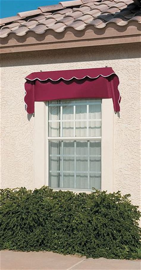 retractable canvas window awnings