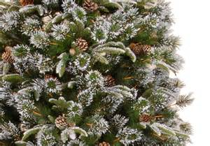 6ft Snowy Christmas Tree Pre Lit by 7ft Liberty Pine Slim Decorated Feel Real Artificial