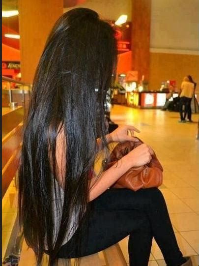 Long Shiny Black Hair   Hairstyles How To