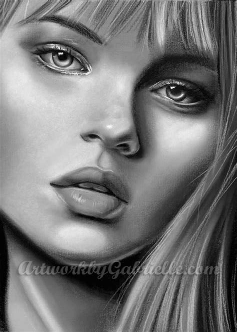 incredible female portrait drawings