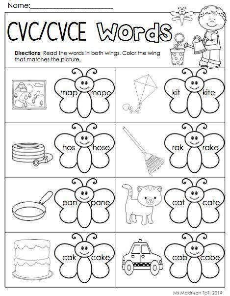 Worksheet Cvce Words  Kidz Activities