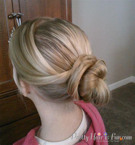 girls hairstyles  crossover bun pretty hair