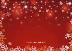 red christmas snowflake background free vector