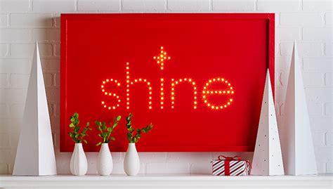 diy light sign board lighted holiday sign