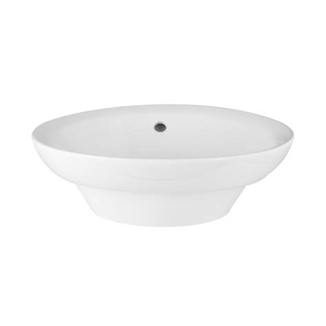 milforde porcelain semi recessed sink bathroom
