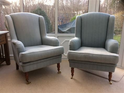 Wesley Barrell Cornbury Armchairs (2 Chairs For £150)