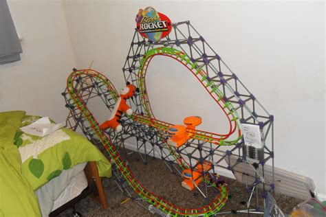 knex roller coaster rippin rocket  instructables