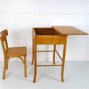 Bureau Enfant Vintage : baumann grand bureau enfant la marelle mobilier vintage pour enfants ~ Teatrodelosmanantiales.com Idées de Décoration