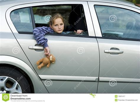 Sad Girl In Car Royalty Free Stock Photography