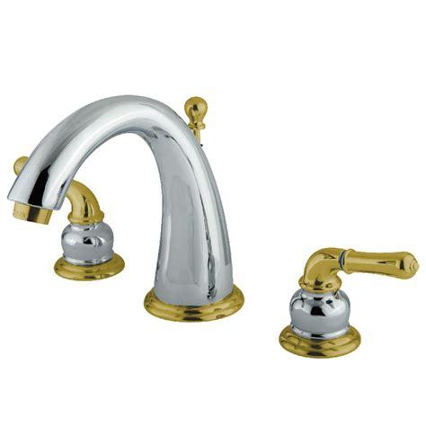kingston brass modern   widespread  handle bathroom