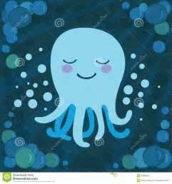 Cute Cartoon Baby Octopus